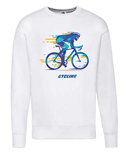 Druckerlebnis24 Pullover - Rennrad Fahrrad Silhouette Radler - Sweatshirt für Herren und Männer