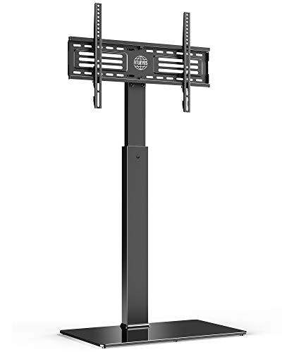 FITUEYES Soporte Giratorio de Suelo para TV de 32-65 Pulgadas Altura Ajustable Soporte de Televisión LCD LED OLED Plasma Plano Curvo TT107501MB