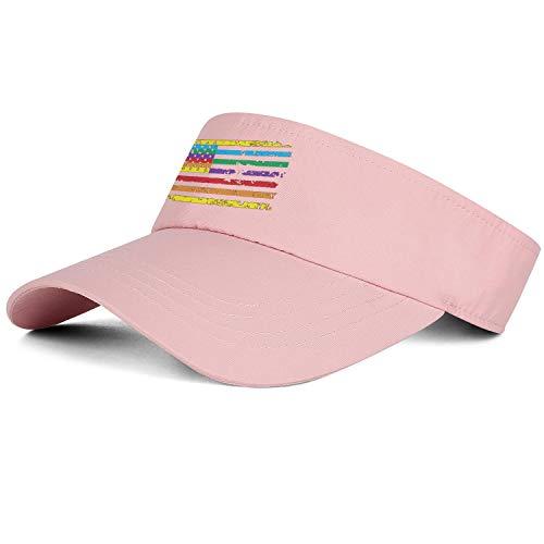 Mens Womens Sun Sports Pink Hats Rainbow American Flag Gay Lesbian Golf Visors Beanie Casual Cap