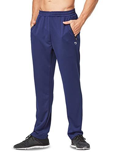 BALEAF Herren Jogginghose Lang Laufhose Sporthose mit Reißverschlusss Handytaschen Navy XXXL