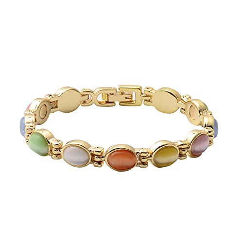 Shop LC Magnetic by DesignOval Multi Color Eye Cats Eye Bracelet Jewelry for Women Size 6.5'