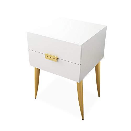 ZHIRONG Chambre Table De Chevet Avec 2 Tiroirs Nordique Moderne Table D'appoint Canapé Salon Table D'angle,15.7\