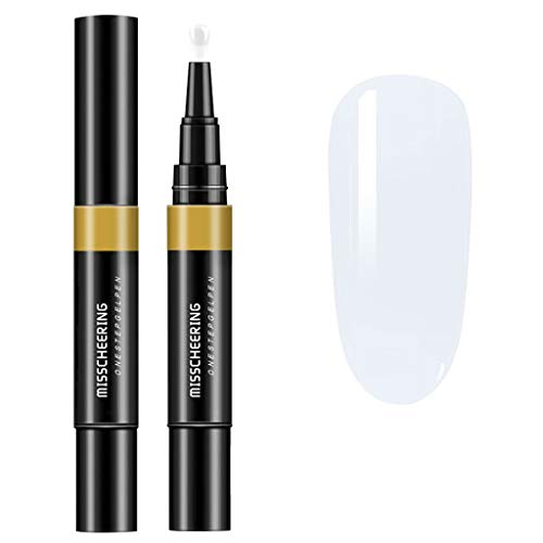 KEERADS One Step Gel 3 en 1 Stylo Vernis à ongles Sans Base Coat Top Coat Besoin Gel Pen Vernis Semi Permanent Soak Off UV/LED Nail (A)