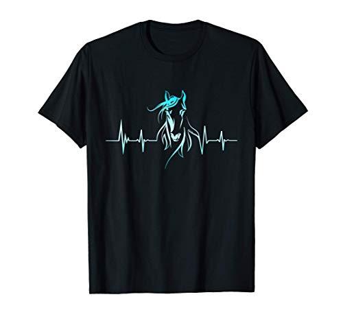 Caballo Latidos Corazón Ecuestre Jinete Las Carreras Regalo Camiseta