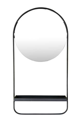 Mirror with hanging shelf