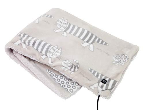 コイズミ 電気ひざ掛け USB ブランケット リサ・ラーソン グレー 90×60cm KDH-L113U/H