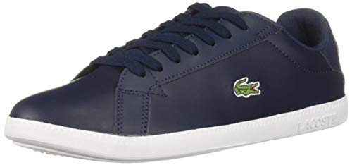 Lacoste Women's Graduate Sneaker, Navy/White, 6 Medium US