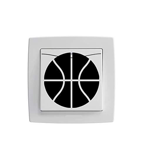 PMSMT Personalidad Baloncesto Vinilo Interruptor Pegatina decoración del hogar calcomanías de Pared 5WS0690