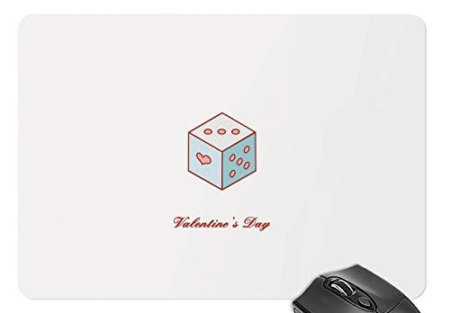 Maus matte liebeswürfel - valentinstag mousepad