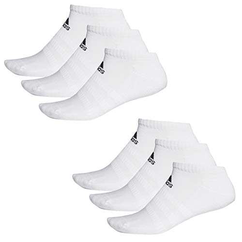 adidas 6 Paar Performance No Show Sneaker Socken Unisex Kurzsocke, Farbe:White, Socken & Strümpfe:43-45