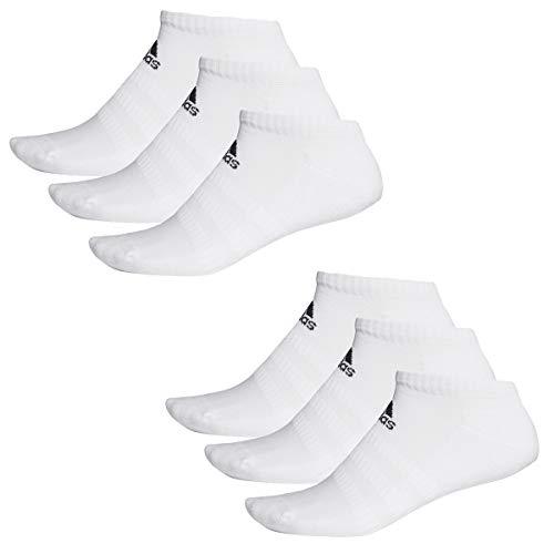 adidas 6 Paar Performance No Show Sneaker Socken Unisex Kurzsocke, Farbe:White, Socken und Strümpfe:40-42