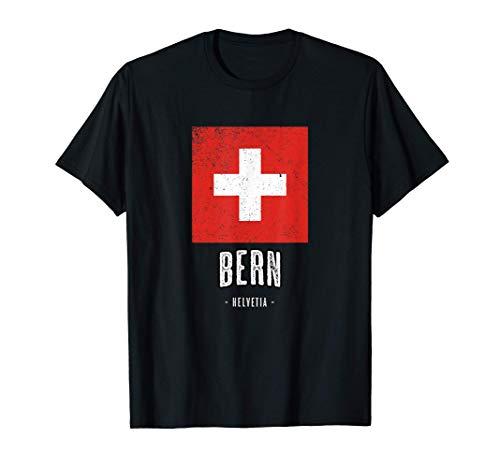 BERN, Schweiz   Stadt - Switzerland Schweizer Flagge - T-Shirt