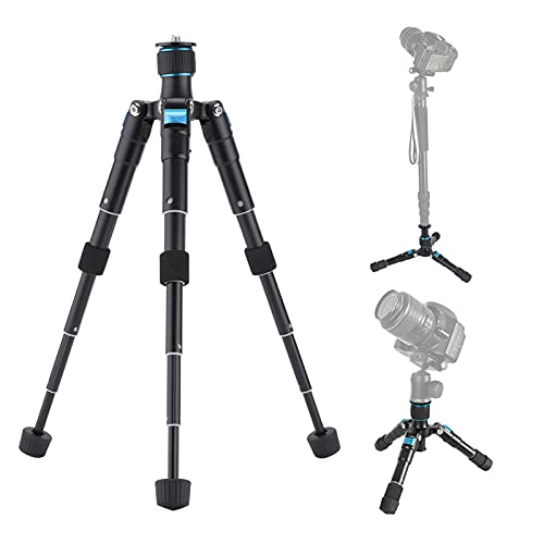 Goshyda Trípode, Mini trípode de Mesa de aleación de Aluminio Ajustable portátil, para cámara Deportiva con Movimiento sin Espejo Digital SLR, teléfono Inteligente
