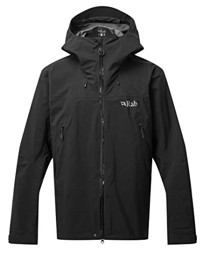 RAB M Kangri GTX Jacket Schwarz, Herren Gore-Tex Windbreaker, Größe M - Farbe Black