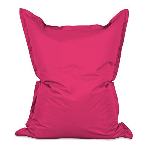 Lumaland Grand Pouf Chaise de Luxe XXL de Jeux, pour intérieur et extérieur, Le Salon ou Chambre Coussin avec Housse Lavable 380L 140 x 180 cm Rose