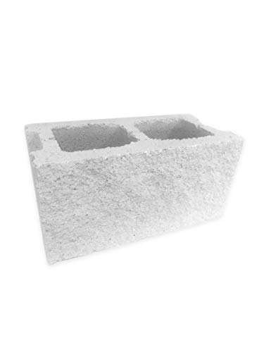 Amagard Bloques de hormigón Hueco Split Blanco 40 x 20 x 20cm. Pallet Completo de 75 Piezas.
