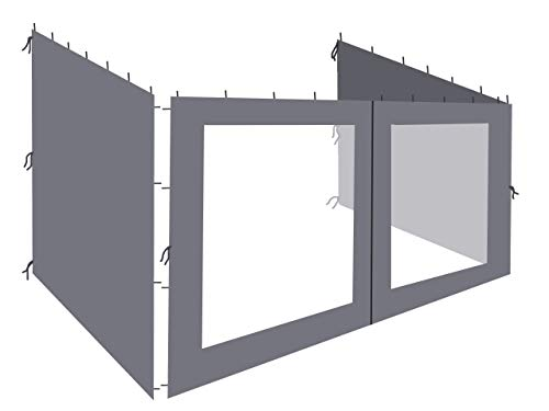 QUICK STAR 3 Paredes Laterales para Tienda de Pared Pergola 3x4m Antracita