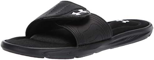 Under Armour Women s Ignite IX SL Slide Sandal Black 001 White 9 M US product image