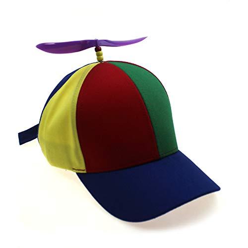 sdssup Sombrero de bambú con hélice, Gorra de béisbol, Primavera y Verano, sombrilla para niños, Entre Padres e Hijos, Gorra de Juguete Ajustable