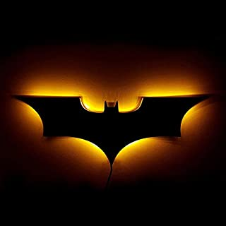 Luz de la noche Lámpara de pared LED 3D Batman LED luz nocturna USB o batería 16 colores cambiar luz decorativa LED para el hogar con control