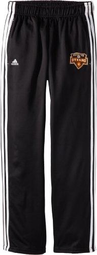 MLS Houston Dynamo Men's 3-Stripe Primary Logo Microfleece Pant, Black, Large