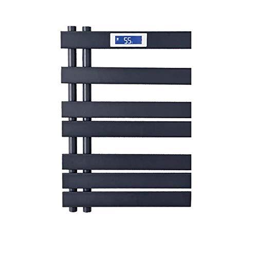 GaoF Radiador de baño, toallero eléctrico termostático, Rejilla de Secado de Toallas de Fibra de Carbono, Almacenamiento + Calentador de Toallas de baño deshumidificador