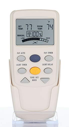 Anderic Replacement FAN-9T with Fan Timer Key Thermostatic Remote Control for Hampton Bay Ceiling Fans - FAN9T (FCC ID: L3HFAN9T, PN: FAN9T)
