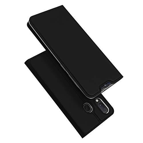 DUX DUCIS Hülle für Samsung Galaxy A20e, Leder Flip Handyhülle Schutzhülle Tasche Hülle mit [Kartenfach] [Standfunktion] [Magnetverschluss] für Samsung Galaxy A20e (Schwarz)