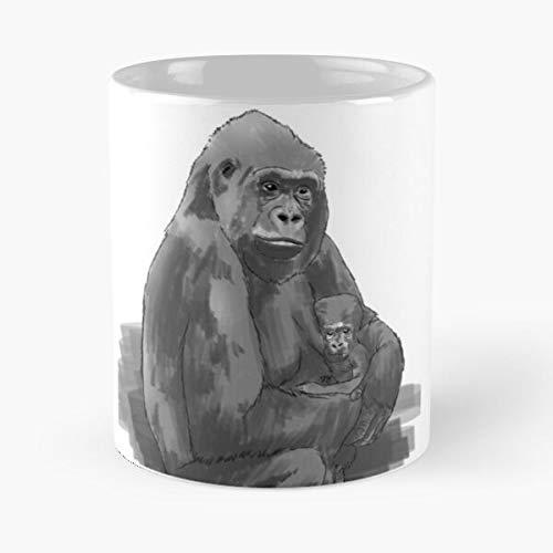 Generic Animal Ape Baby Gorillas Cute Animals Monkey Gorilla Best 11 oz Kaffeebecher - Nespresso Tassen Kaffee Motive