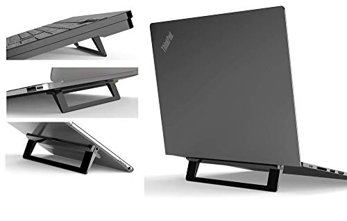 Mywilon Supporto PC Portatile Pieghevole Ergonomico invisibile – Supporto per tablet tastiera Accessorio Gamer Compatibile per Laptop (10-17 Pollici) MacBook Pro Air Apple colore: Nero
