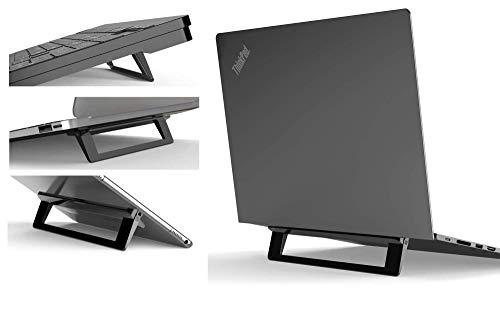 Mywilon Supporto PC Portatile Pieghevole Ergonomico invisibile – Supporto per tablet tastiera Accessorio Gamer Compatibile per Laptop (10-17 Pollici)