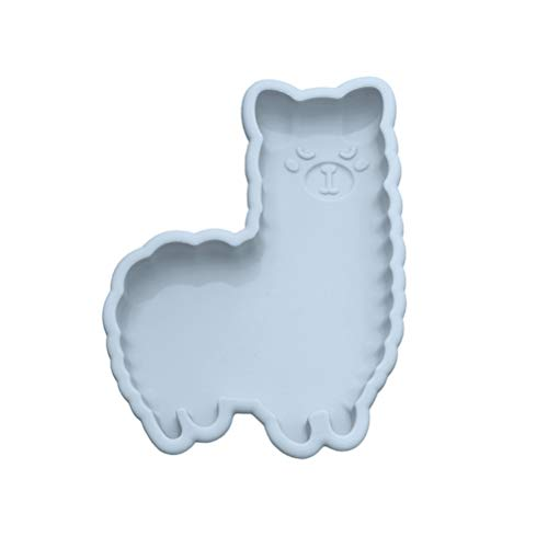 Knowoo Easter Cake Mold Silicone Bakeware Molds 3D Cute Animal Non-Stick Chocolate Soap Pudding Cake Handmade Baking Tools Tray Mould DIY Tool, Blue alpaca shape