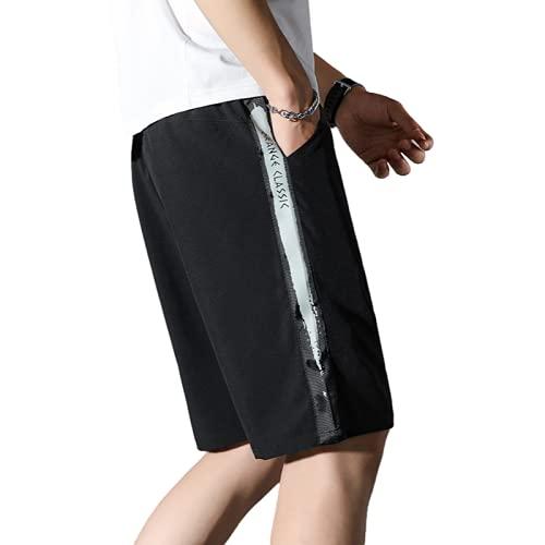 Katenyl Pantalones Cortos de Secado rápido de Talla Grande para Hombre Pantalones Cortos Rectos básicos de Cintura Media Finos y cómodos Tendencia a Juego 5XL