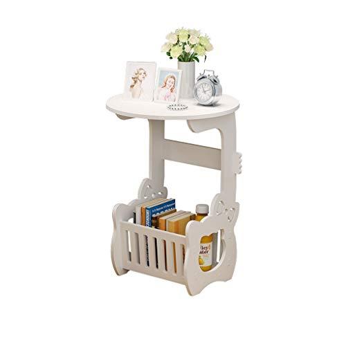 WXL Pequeña mesa de café minimalista pequeña mesa de café pequeño apartamento sala de estar sofá mesa mesa de almacenamiento lateral mesa mesa redonda nórdico mesas finales