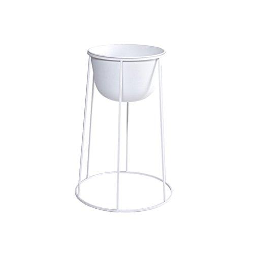 WILL.I.AM Étagères de Porche Porte-Fleurs en Fer, Salon Pot de Pot de Fleurs Balcon Bonsai Frame Plant Display Stand Support de Plante de boîte à Fleurs (Couleur : Blanc, Taille : 32 * 41 * 61CM)