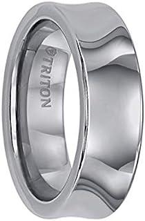 Triton Ring Concave Bright Polish Tungsten Carbide Comfort Fit Band