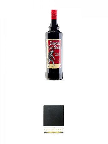 Mesclat Can Nadal (30%) 1,0 Liter + Schiefer Glasuntersetzer eckig ca. 9,5 cm Durchmesser