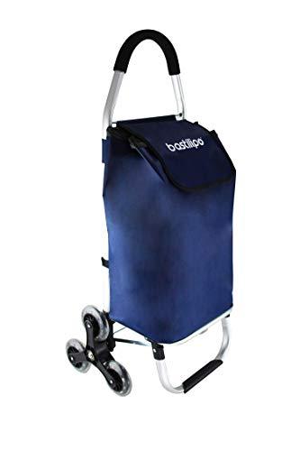 Bastilipo Andrea Azul-Carro Sube escaleras de Seis Ruedas Plegables máxima, 46 litros de Capacidad