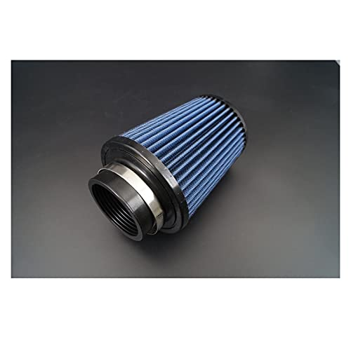 MENGHE TANGZHOU 2.76'Pulgada / 70mm ID/GLOWT Tall 205MM 8,07 Pulgadas/Universal Nuevo Cono Aire Cónico Redondo Inter Algodas Gauze Filtro Azul