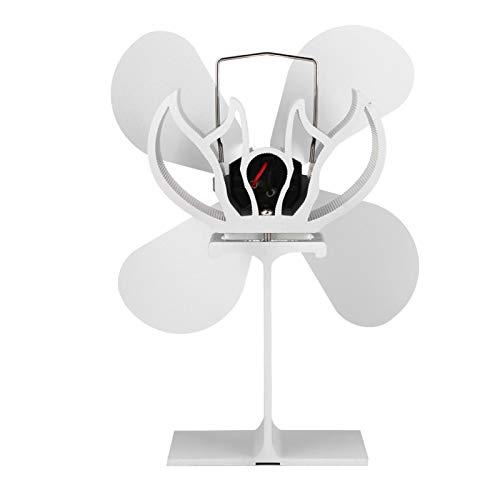 Faceuer Ventilador para Estufa, Resistente a la corrosión, 4 aspas, Ventilador accionado por Calor, silencioso para Ciclo térmico para Quemador de leña