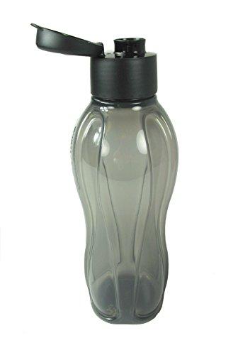 TUPPERWARE To Go Eco 1,0L schwarz C138 Trinkflasche EcoEasy Flasche Ökoflasche