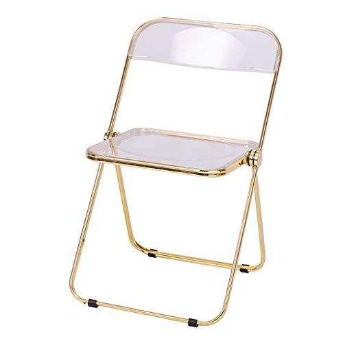 ZWJLIZI Klappstuhl, Acryl transparent Make-up Stuhl, zurück nach Hause Speisen Stuhl (ins Stil) (Color : C)