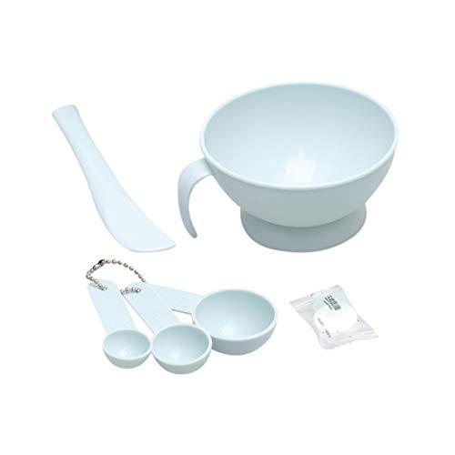 Lurrose Gezicht Masker Mixing Bowl Set Gezichtsmasker DIY Gezichtsmasker Mixing Tool Sets Bowl Stick Spatel Gauges Gecomprimeerd Masker Set (Blauw) 12 * 12cm Blauw