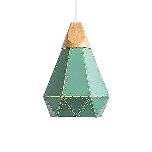 Newest Luces colgantes de diseño moderno Lámpara LED colorida nórdica para la iluminación del hogar Restaurante Lámparas de madera Lámparas de madera con lámparas Lámparas de pared