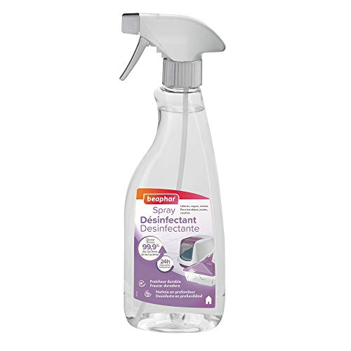 Beaphar - Spray Limpiador desinfectante para hábitat de Animales, 500 ml