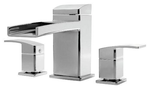 Pfister RT6-5DFC Kenzo 2-Handle Waterfall Roman Tub Trim in Polished Chrome
