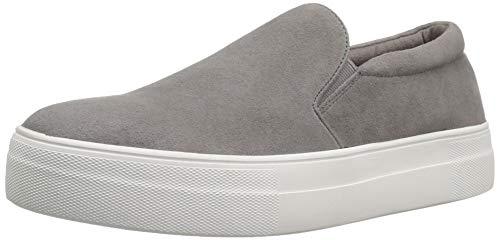 Steve Madden Women's Gills Sneaker, Grey Suede, 10