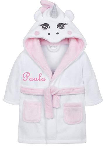 Wuff-Dogsworld knuffelige badjas eenhoorn met naam geborduurd geschenk kinderen