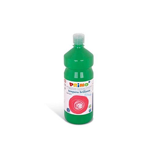 PRIMO schoolverf Tempera verf voor kinderen, 1000 ml fles met doseerdop (groen)