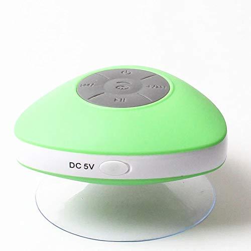 QAZW Altavoz Portati Inalambrico Altavoz Bluetooth Ducha con Ventosa Radios de Ducha a Prueba de Agua hasta 5 Horas de Reproducción Altavoz de Ducha para Playa, Ducha, Viaje y más,Green